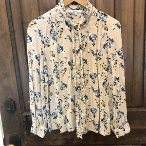 Anthropologie RO&DE Floral Blouse Rayon